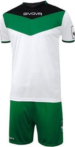 Givova Givova Komplet Piłkarski Kit Campo Czarno-zielony 2XS 1