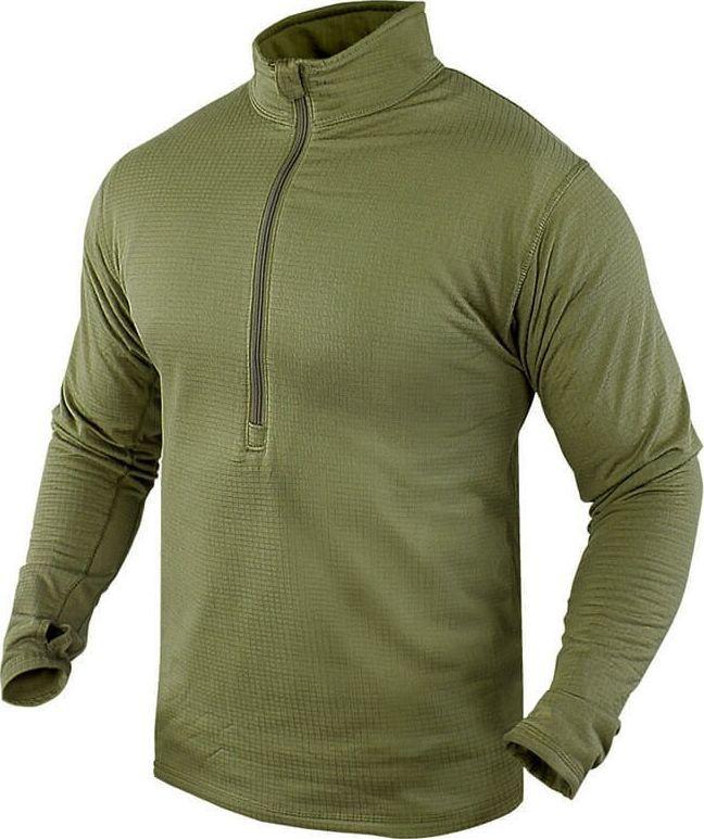 Condor Condor Koszulka z Długim Rękawem Base II Zip Olive S 1