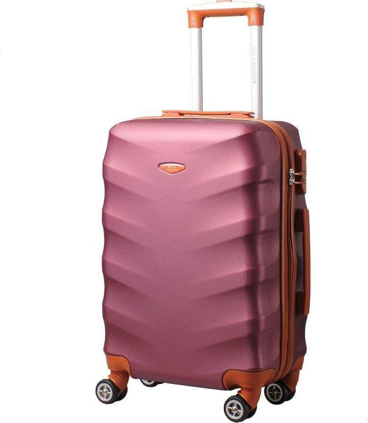 Kemer Mała walizka KEMER EXCLUSIVE 6881 S Bordowo brązowa uniwersalny 1