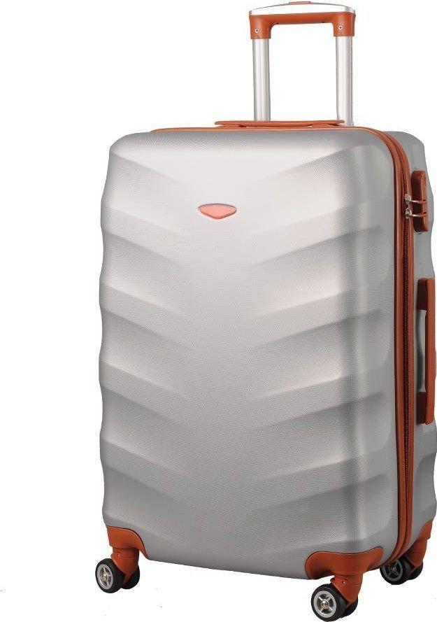 Kemer Średnia walizka KEMER EXCLUSIVE 6881M Srebro brązowa uniwersalny 1