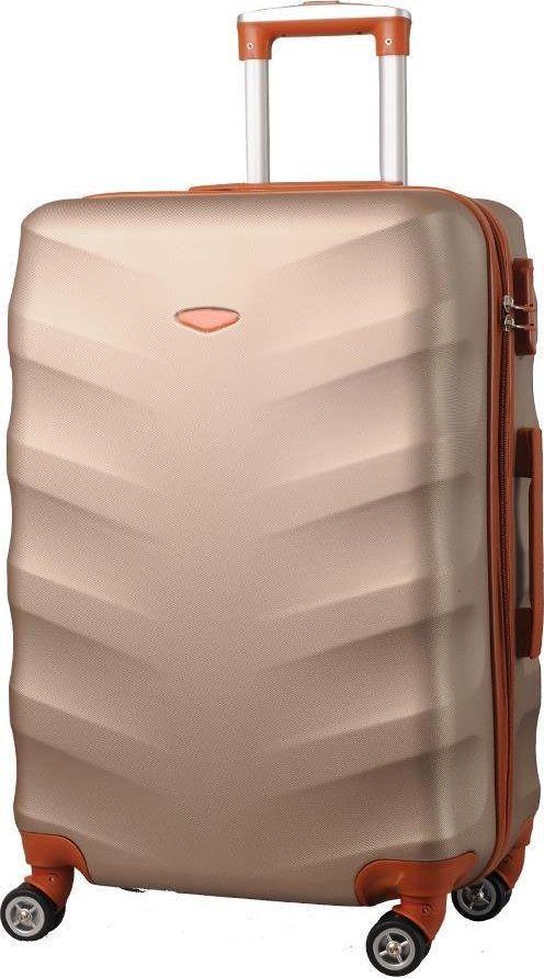 Kemer Średnia walizka KEMER EXCLUSIVE 6881M Złoto brązowa uniwersalny 1