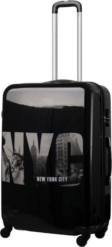Kemer Mała kabinowa walizka KEMER PRINT S NYC uniwersalny 1