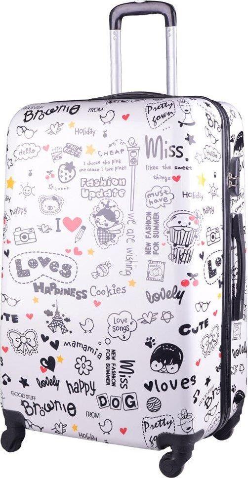 Kemer Duża walizka KEMER PRINT L Loves Multikolor uniwersalny 1