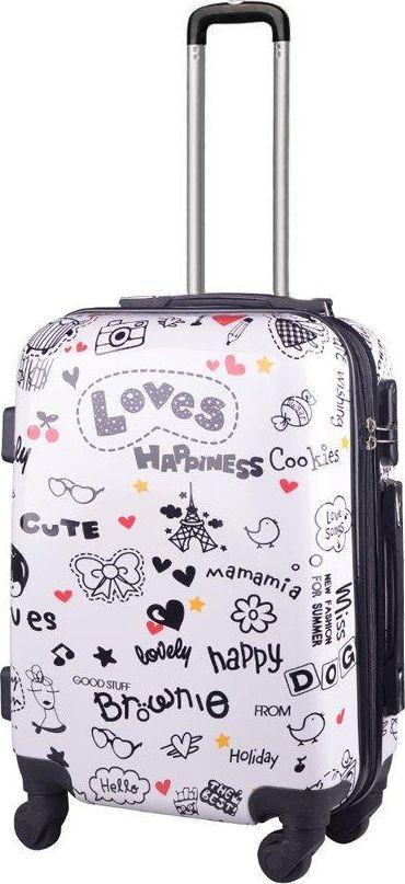 Kemer Mała kabinowa walizka KEMER PRINT S Loves Multikolor uniwersalny 1