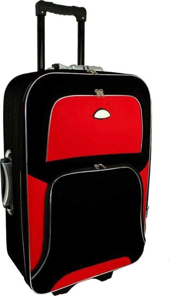PELLUCCI Średnia walizka PELLUCCI 301 M Czarno Czerwona uniwersalny 1