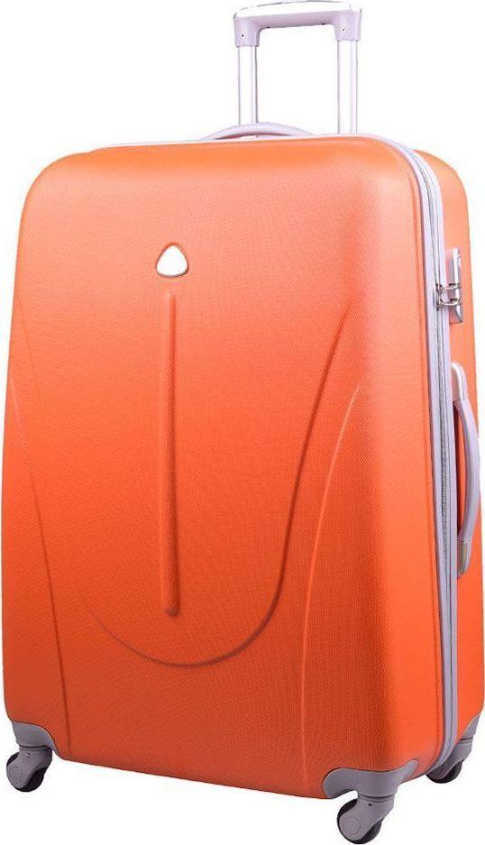 PELLUCCI Duża walizka PELLUCCI 883 L - Pomarańczowa uniwersalny 1