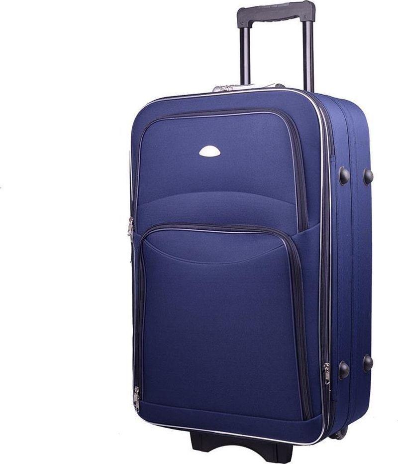 PELLUCCI Duża walizka PELLUCCI 773 L - Granatowa uniwersalny 1