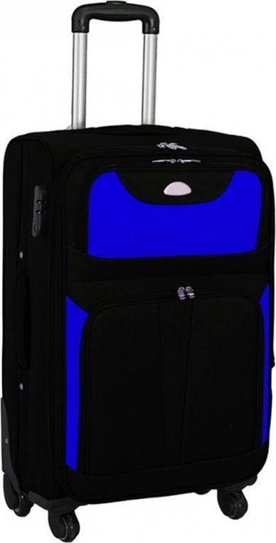 PELLUCCI Mała kabinowa walizka PELLUCCI S-010 S RYANAIR Czarno Niebieska uniwersalny 1