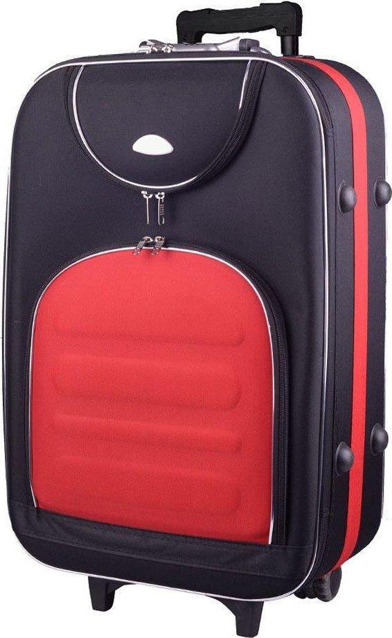 PELLUCCI Duża walizka PELLUCCI 801 L - Czarno Czerwona uniwersalny 1
