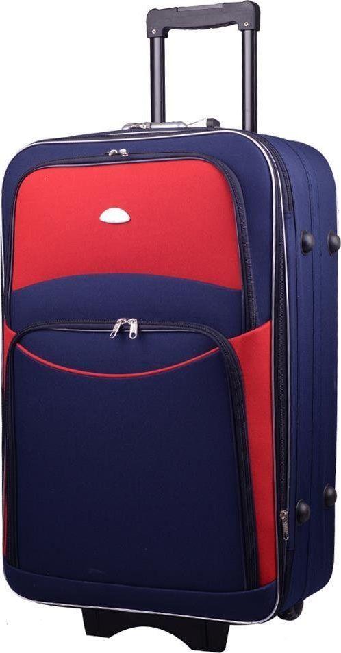 PELLUCCI Duża walizka PELLUCCI 773 L Granatowo Czerwona uniwersalny 1