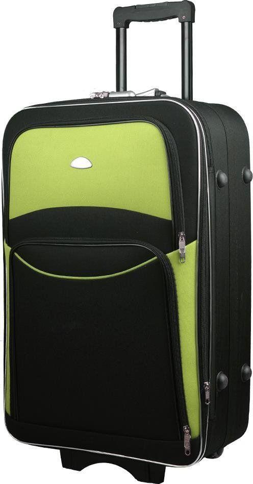 PELLUCCI Duża walizka PELLUCCI 773 L Czarno Zielona uniwersalny 1