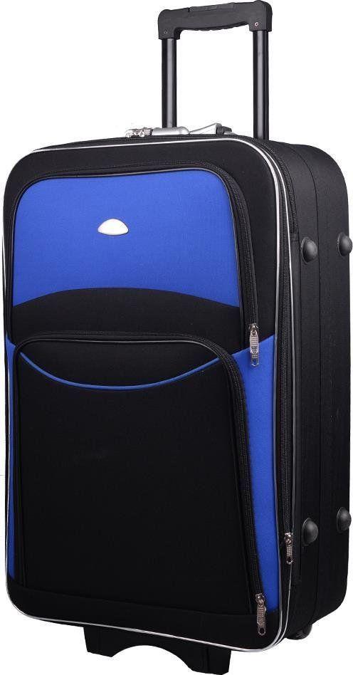 PELLUCCI Duża walizka PELLUCCI 773 L Czarno Niebieska uniwersalny 1