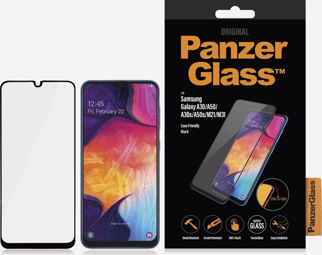 PanzerGlass Szkło hartowane do Samsung Galaxy A30/A50/A30s/A50s/M21/M31 Case Friendly Black (7190) 1
