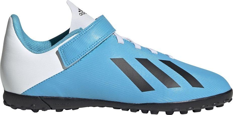 Adidas, Buty dziecięce piłkarskie, X 19.4 H&L TF J EF9126, niebieski, rozmiar 36