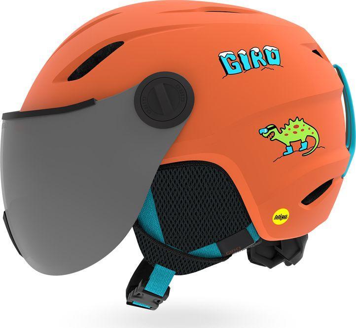 GIRO Kask dziecięcy Buzz Mips matte deep orange dino r. XS (48.5-52 cm) (GR-71048) 1