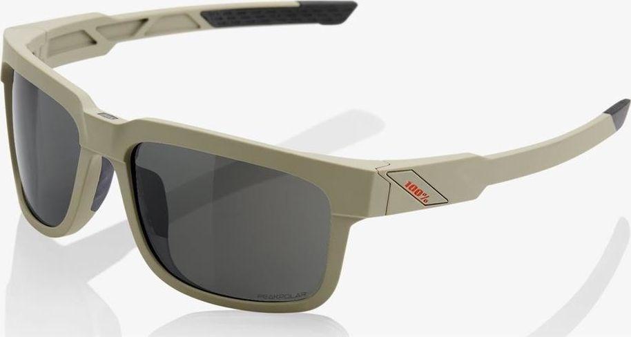 100% Okulary 100% TYPE-S Soft Tact Quicksand - Grey PEAKPOLAR Lens (Szkła Polaryzacyjne Szare, przepuszczalność światła 17%) 1