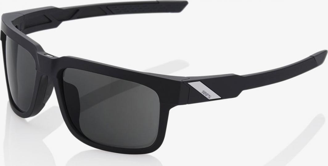 100% Okulary Type-S Soft Tact Black Smoke Lens 1