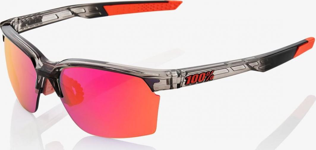 100% Okulary Sportcoupe Polished Translucent Crystal Smoke Purple Multilayer Mirror Lens 1