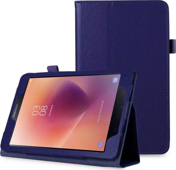 Etui do tabletu 4kom.pl Etui stojak do Samsung Galaxy Tab A 8.0 T380/ T385 granatowe uniwersalny 1