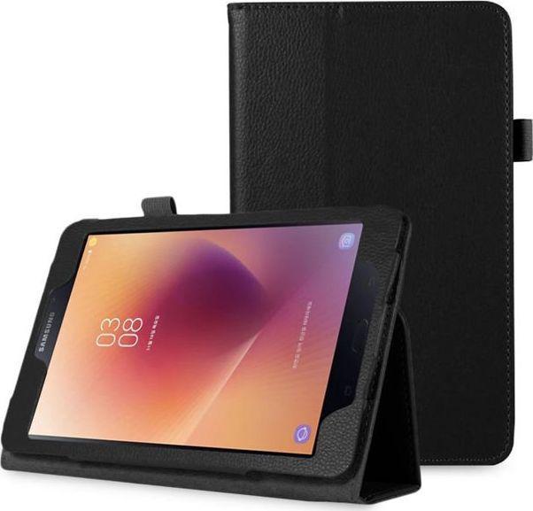Etui do tabletu 4kom.pl Etui stojak do Samsung Galaxy Tab A 8.0 T380/ T385 czarny uniwersalny 1
