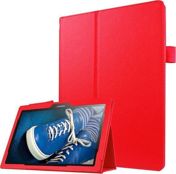 Etui do tabletu 4kom.pl Stand Cover do Lenovo Tab2 A10-30/Tab 10 TB-X103 F/L Czerwone uniwersalny 1