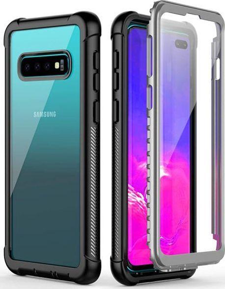 Alogy Etui Alogy pancerne rugged Full-body do Samsung Galaxy S10 Plus Czarne uniwersalny 1