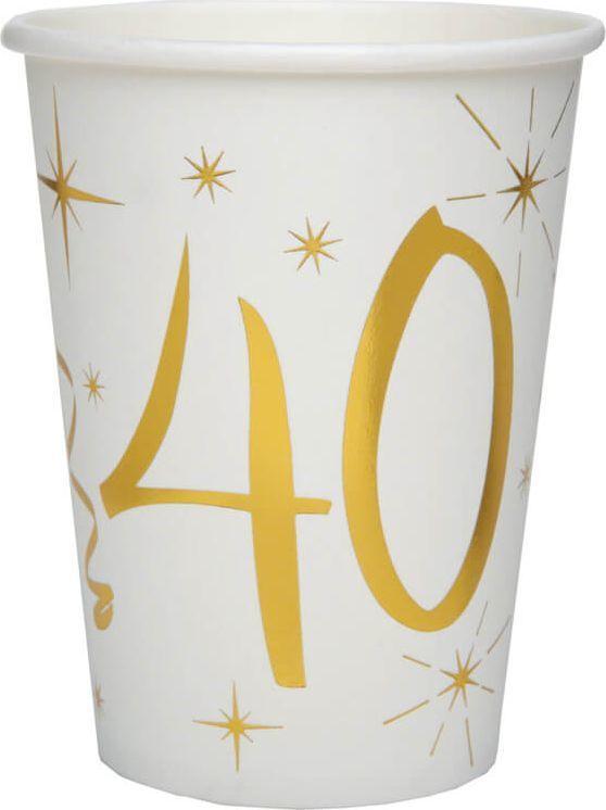 Santex kubeczki na czterdzieste urodziny 40tka 10 sztuk uniwersalne (38923) 1