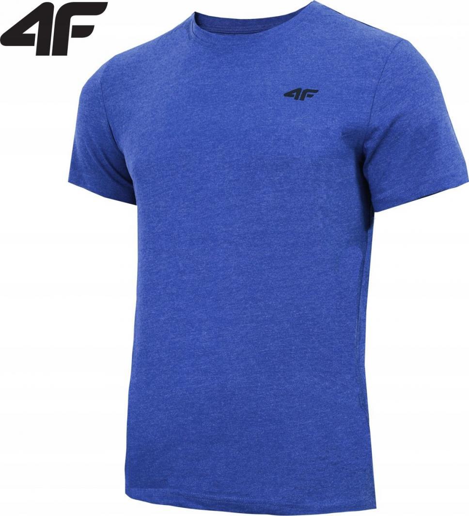 4f Koszulka męska H4Z19 TSM070 niebieski melanż r. XL ID produktu: 6152615