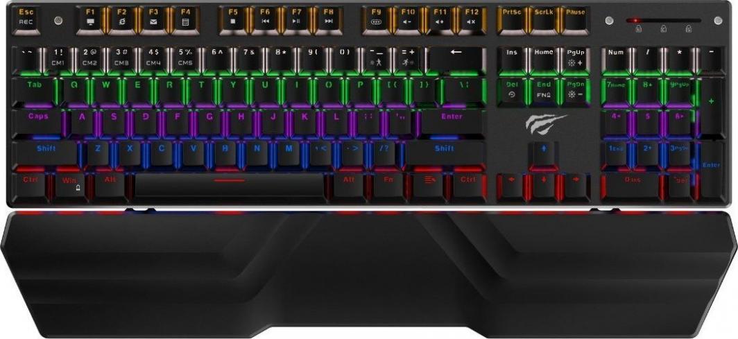 Klawiatura Havit KB432L Rainbow 1