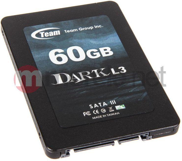 "Dysk SSD Team Group 60 GB 2.5"" SATA III (T253L3060GMC101) 1"