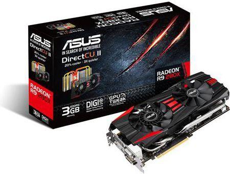 Karta graficzna Asus Radeon R9 280X, 3GB GDDR5 (384 Bit), HDMI, 2xDVI, DP  (R9280X-DC2-3GD5) ID produktu: 616821