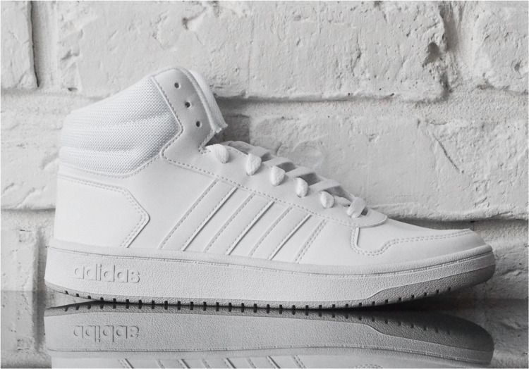 Adidas Buty męskie Hoops 2.0 Mid białe r. 47 13 (F34813) ID produktu: 6171832