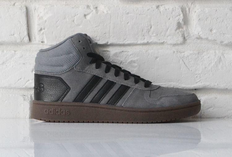 Adidas Buty męskie Hoops 2.0 Mid szare r. 42 23 (EE7367) ID produktu: 6171929