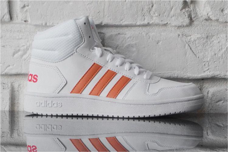 Adidas Buty dziecięce Hoops Mid 2.0 białe r. 40 (EE6708) ID produktu: 6172070