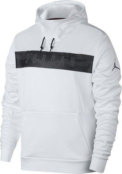 bluza z kapturem biała jordan