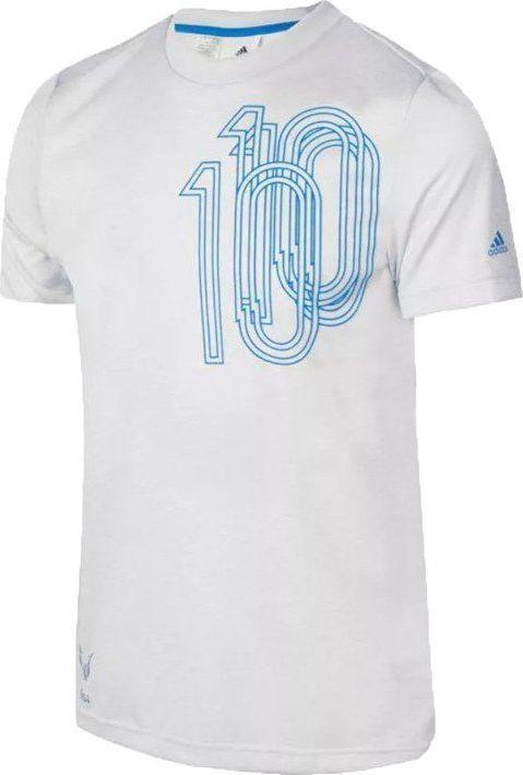 Adidas Koszulka chłopięca Yb Messi Icon Tee biała r. 140 (AX6358) ID produktu: 6174636