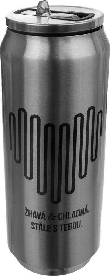 Orion Kubek termiczny Puszka 0.5L srebrny 1