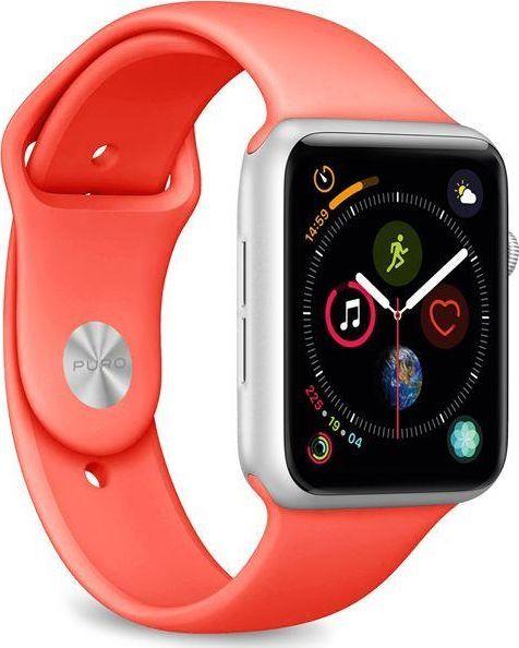Puro PURO ICON Apple Watch Band - Elastyczny pasek sportowy do Apple Watch 38 / 40 mm (S/M & M/L) (Living Coral) 1