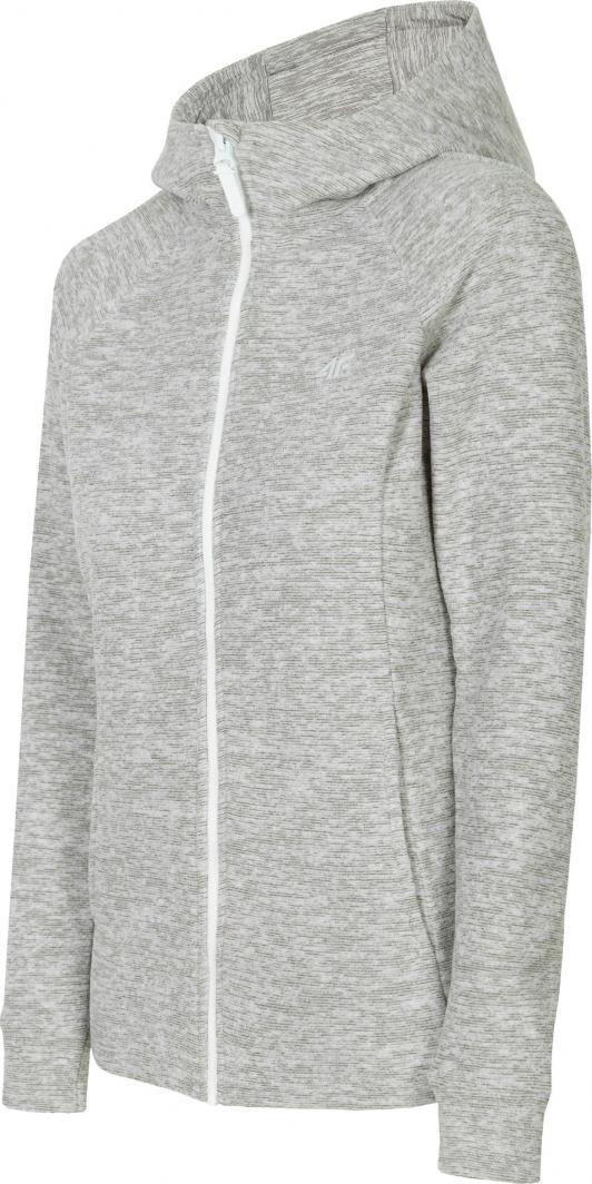 Bluza polarowa męska 4F chłodny jasny szary melanż H4Z19