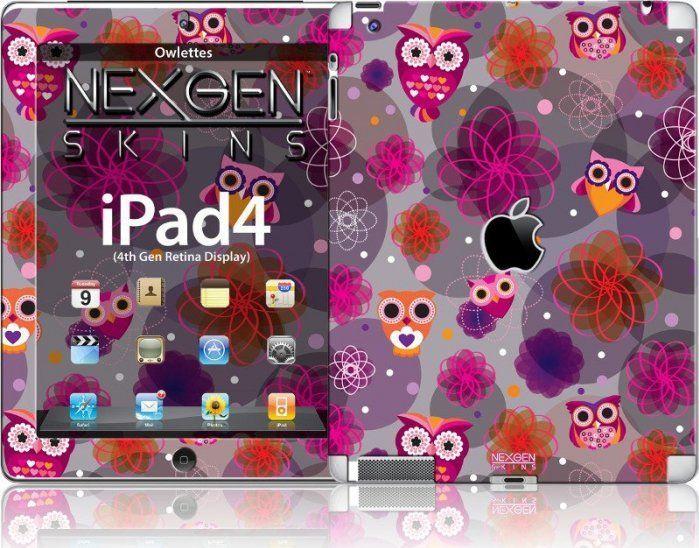 Nexgen Skins Nexgen Skins - Zestaw Skórek Na Obudowę Z Efektem 3d Ipad 2/3/4 (owlettes 3d) 1