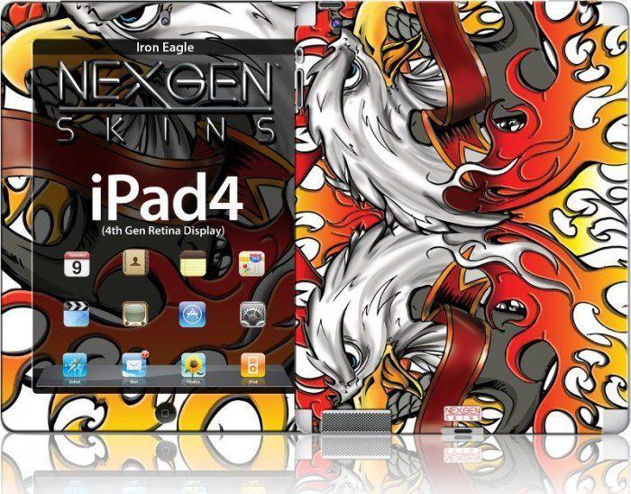 Nexgen Skins Nexgen Skins - Zestaw Skórek Na Obudowę Z Efektem 3d Ipad 2/3/4 (iron Eagle 3d) 1