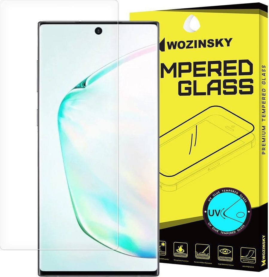 Wozinsky Wozinsky Tempered Glass Uv Szkło Hartowane Uv 9h Samsung Galaxy Note 10 (in-display Fingerprint Sensor Friendly) - Szkło Bez Kleju I Lampki Led 1