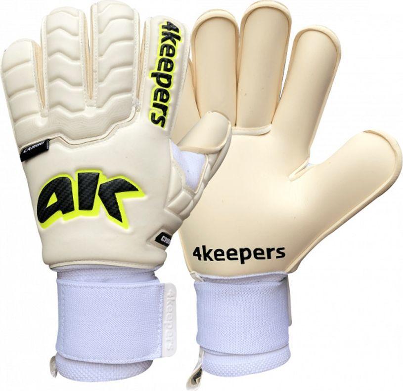 4keepers Rękawice 4keepers Champ Carbo RF Pro Strap+ płyn czyszczący S605131 biały 10 1