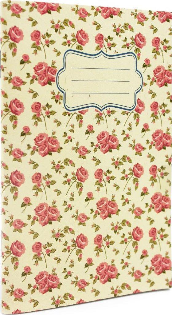 Make Notes Vintage B Zeszyt A6 32 stron linia kwiaty (303387) 1