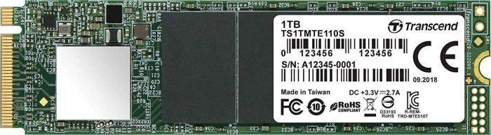 Transcend 110S 1 TB M.2 2280 PCI-E x4 Gen3 NVMe (TS1TMTE110S) - Dysk SSD - Morele.net
