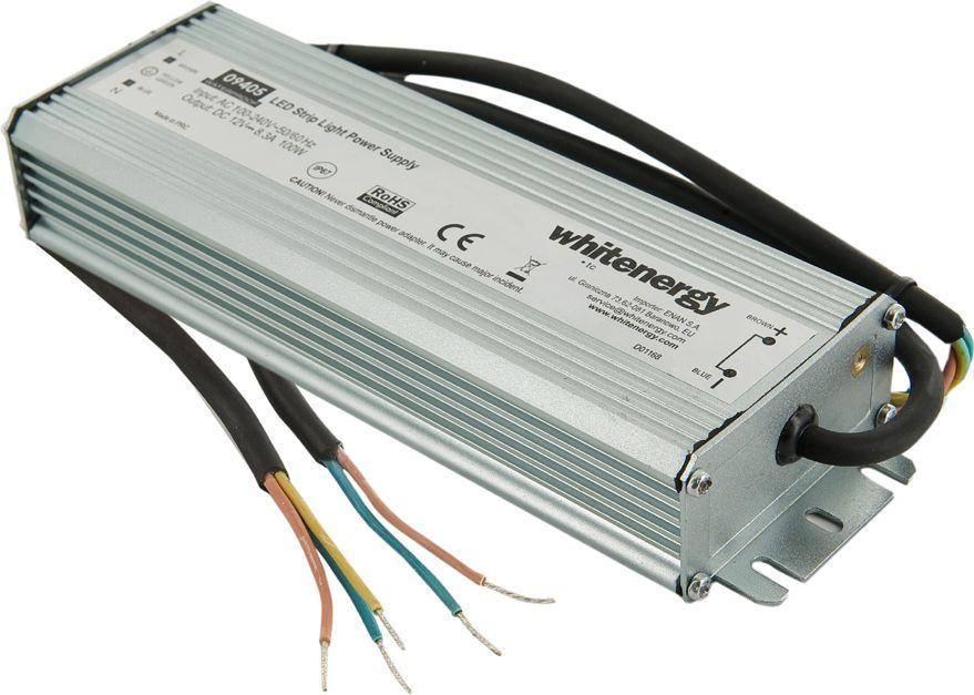 Whitenergy Zasilacz LED Wodoodporny IP67 230V 100W 12V (09405) 1