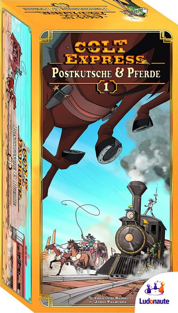 Asmodee Colt Express - stagecoaches and horse (po angielsku) 217 672 1