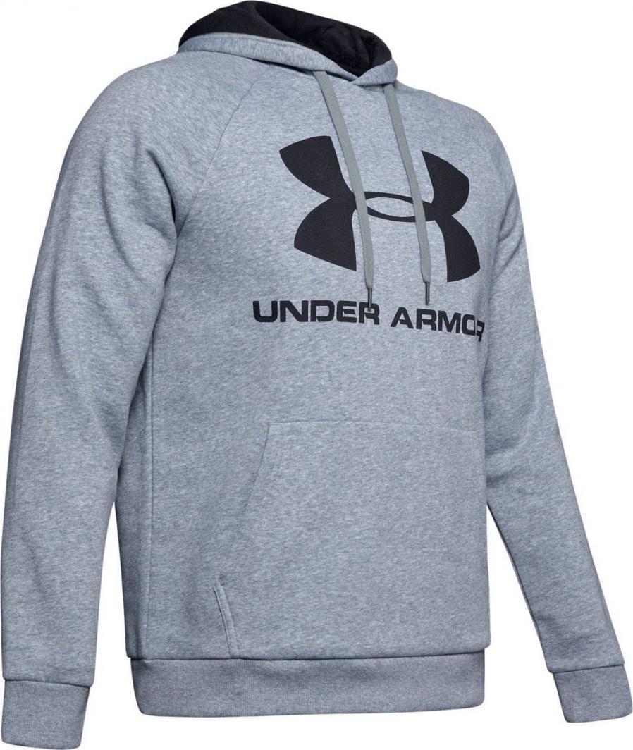 Under Armour Bluza męska Rival Fleece Sportstyle Logo Hoodie szara r. S (1345628 035) ID produktu: 6222488