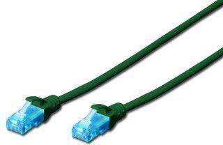 Digitus Patch cord U/UTP kat.5e PVC 0,5m zielony (DK-1512-005/G) 1
