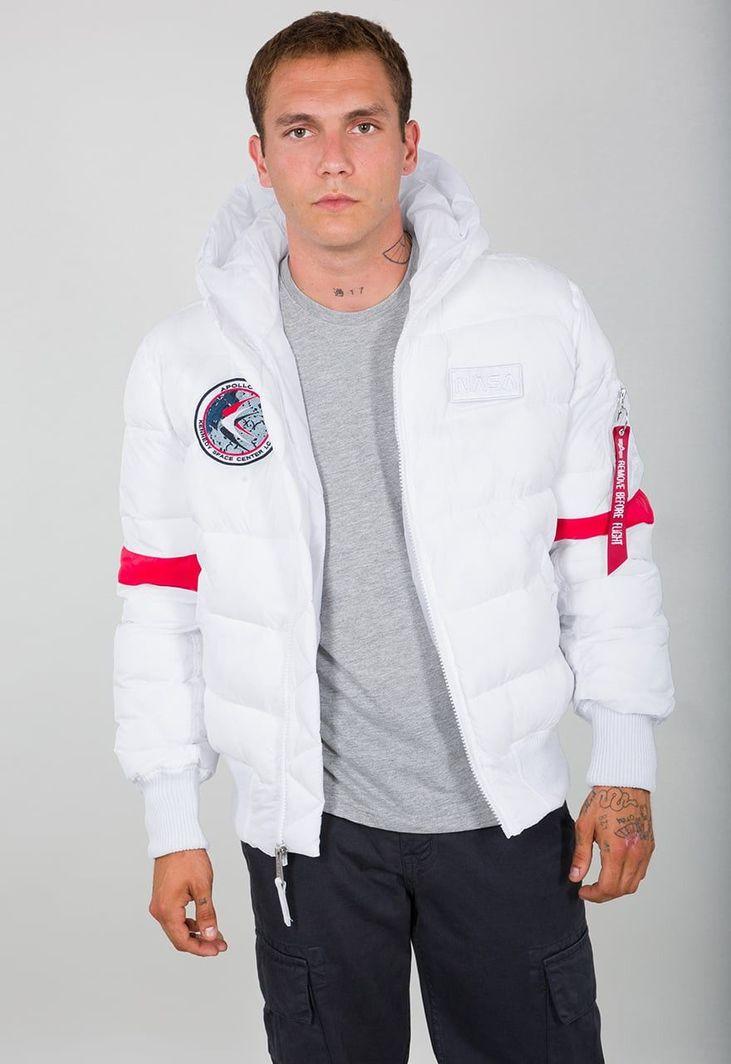 alpha industries kurtka biała zimowa